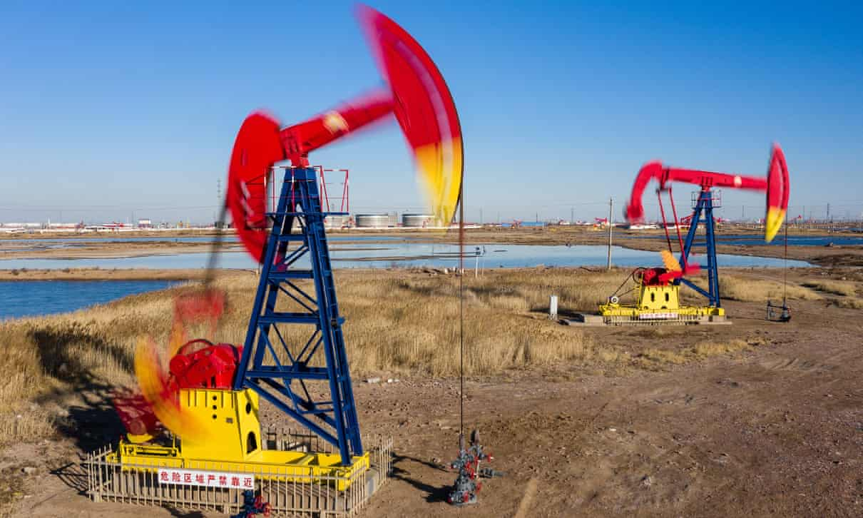 سهام شرکتهای نفتی کاهش یافته است. عکس: شان گالاگر