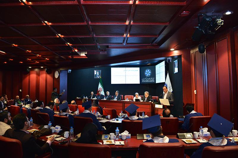 مراسم پایان دوره مدیریت اجرایی با حضور رئیس اتاق تهران و رئیس دانشگاه امیرکبیر 97/02/19