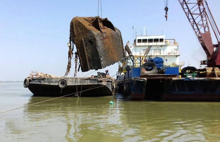 اروند؛ هم چنان اسیر غرقهای شدههای جنگ