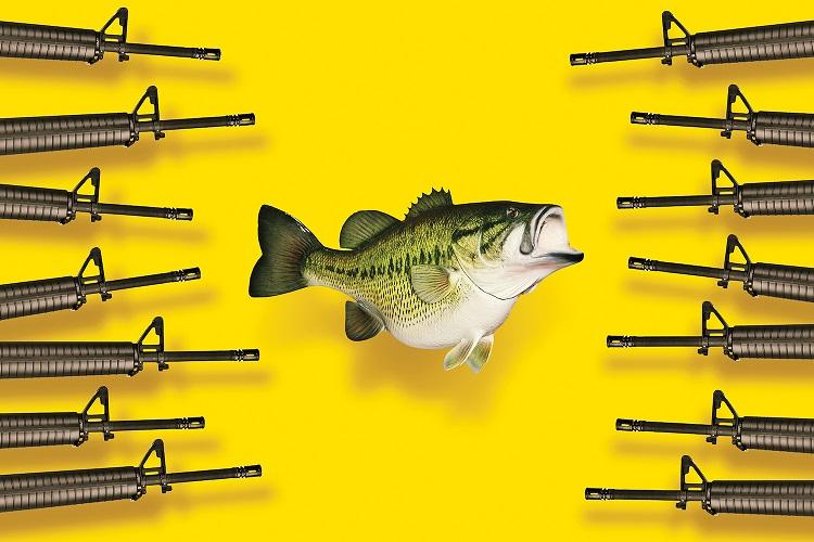 اسلحه در برابر ماهی