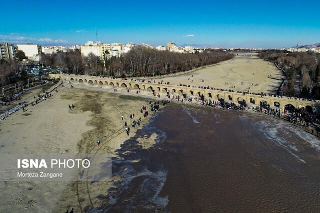 خروجی سد زایندهرود از بامداد امروز کاهش یافت
